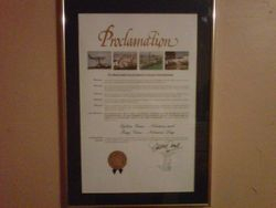 Proclamation from Miami Dade County